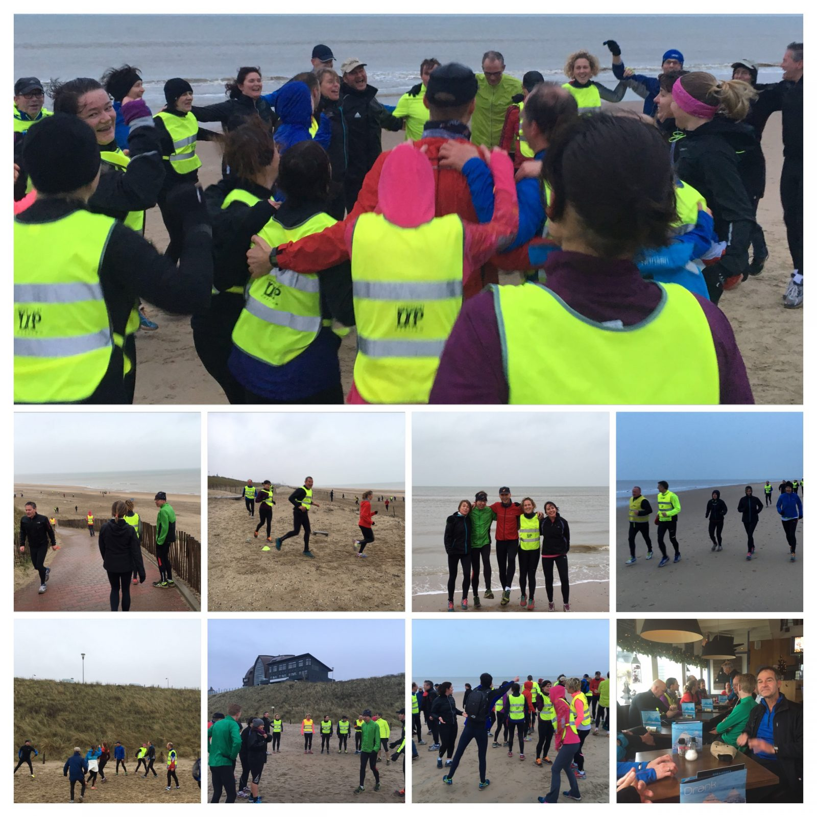 Oliebollentraining strand 2 januari